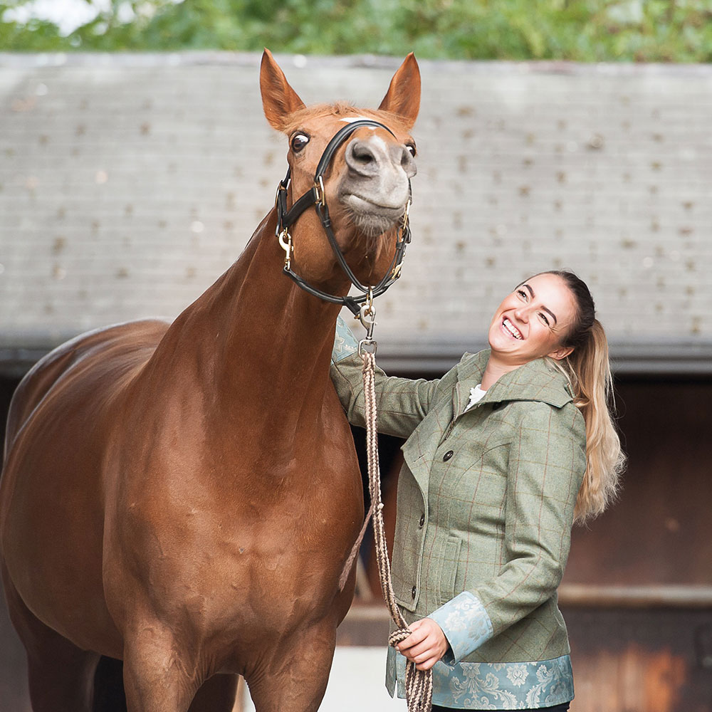 Christa enjoying a scratch with Bronte Watson